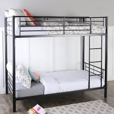 Metal Frame Canopy Bed by Amazon Com Sturdy Metal Twin Over Twin Bunk Bed In Black Finish