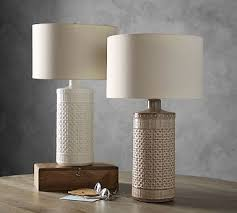 Pottery Barn Lamos Jamie Young Ceramic Column Table Lamp Taupe Columns Lights And