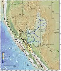 Colorado River Map by A Post U20136 Ma Sediment Budget For The Colorado River Geosphere