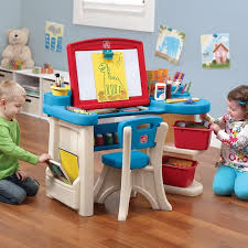kids play table with storage kids activity draw art desk chair set with easel play table