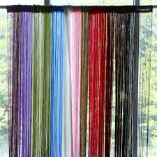 Patio Door Net Curtains 2m 1m 12 Colors String Curtains Door Window Panel Curtain Divider