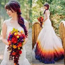 ombre wedding dress sheath scoop sweep open back ombre wedding dress with
