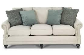 Dr Pitt Sofa Decor Enchanting Blue Microfiber Upholstered Sofa By Bobs