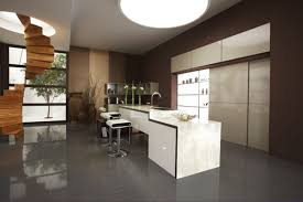 exclusive home bar with white counter and comfy brown walls for