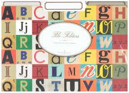 cavallini file folders vintage alphabet file folders set of 12