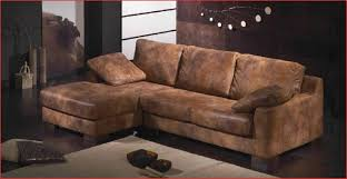 canapé cuir vieilli marron comme référence correctement beau