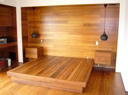 koa wood guest room modern bedroom los angeles by sergio