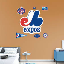 montreal expos classic logo wall decal shop fathead for montreal expos classic logo fathead wall decal