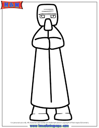 villager coloring page h u0026 m coloring pages
