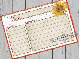 printable recipe cards 4 x 6 printable blank recipe cards 3x5 4x6 recipe cards for bridal