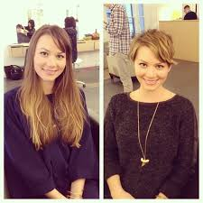 before and after picuters of long to short hair before after a k a turning into a pixie pixie cut preparation