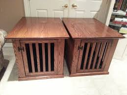 Making Wooden End Table by Dog Crate End Table Home Design By John