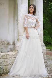 half lace wedding dress sleeve lace wedding dress