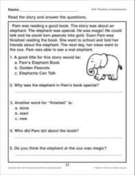 pam u0027s elephant book reading passage and comprehension questions