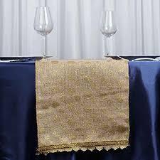 gold polka dot table cover efavormart natural burlap jute table runner with metallic gold polka