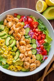 best salad recipes avocado shrimp salad recipe video natashaskitchen com
