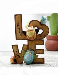 creative ornament letters for home decor bird owl