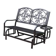 Glider Porch Furniture Wicker Porch Glider With Comfy Outdoor Furniture Ideas