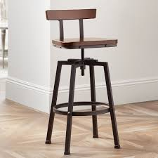 Bar Stool Height Amazon Com Roark Dark Wood Hammered Bronze Adjustable Swivel