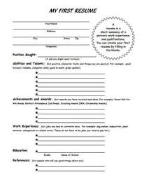 Resume To Fill Up Teaching Children How To Fill Out Forms Life Skills Students