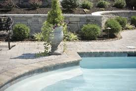 landscaping around swimming pool modern pool philadelphia