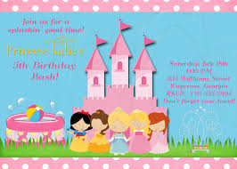 disney princess party invitations templates free cute disney