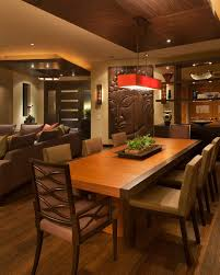 Asian Inspired Dining Room Zen Dining Room Ideas Dining Room Contemporary With Chandelier