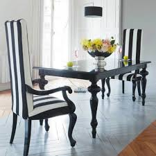 elegant dining room for romantic dinner with two chair with black