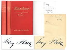 lot detail adolf signed copies of his u0027 u0027mein kampf