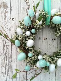 aqua blue easter egg wreath egg wreath by marigoldsdesigns