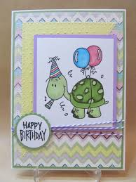 savvy handmade cards turtle happy birthday card