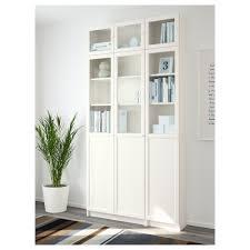slim bookcase white billy oxberg bookcase white glass 120x237x30 cm ikea billy