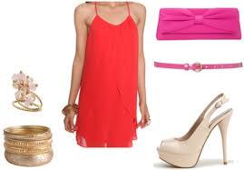 a foolproof guide to matching colors in your outfits college fashion analgous colored outfit pink and red