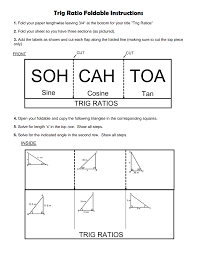 30 60 90 Triangles Worksheet Trig Ratio Foldable Instructions Pdf Google Drive Things To