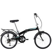 20 Classic Black And White Classic Motion 6 Speed Compact Folding Bike With 20