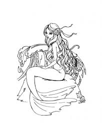 30 stunning mermaid coloring pages