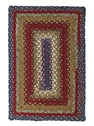 log cabin step cotton braided rug cottage home