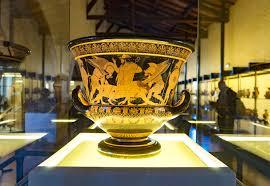 Euphronios Vase The Euphronios Krater On Display Editorial Stock Image Image