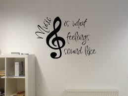 Music Note Wall Decor Amazon Com Music Is What Feelings Sound Like Vinyl Wall Decal