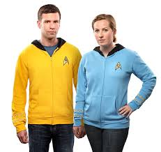 star trek the original series uniform hoodie thinkgeek