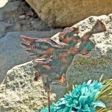 Sheet Metal Garden Art - squirrel decor garden stake metal garden art by gardencopperart