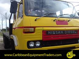yellow nissan truck nissan 10 ton flatbed truck caribbean equipment online
