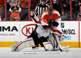Flyers Meme - nhl goalies fight during capitals blowout win over flyers
