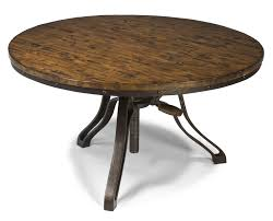 rustic adjustable coffee tables with round unpolished wood table