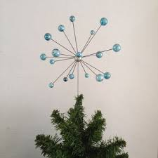 Retro Christmas Tree Toppers - atomic molecular christmas tree topper snow burst retro modern