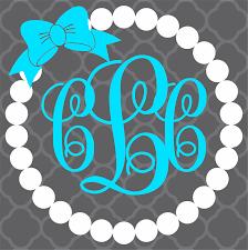 custom pearl monogram decals bad bass designs
