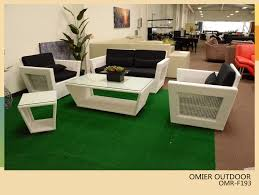 Rattan Settee Furniture Modern White Wicker Rattan Sofas Outdoor Furniture Omr F193
