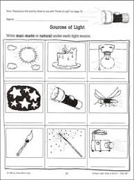 light energy experiments 4th grade light and shadow worksheets lights and