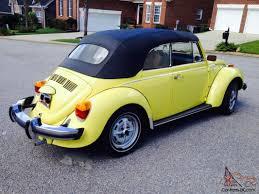 1979 vw volkswagen beetle convertible yellow volkswagen beetle convertible 2 door 1 6l