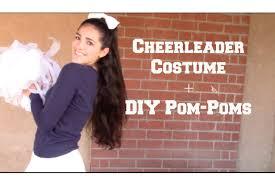Cheer Halloween Costumes Cheerleader Costume Diy Pom Poms